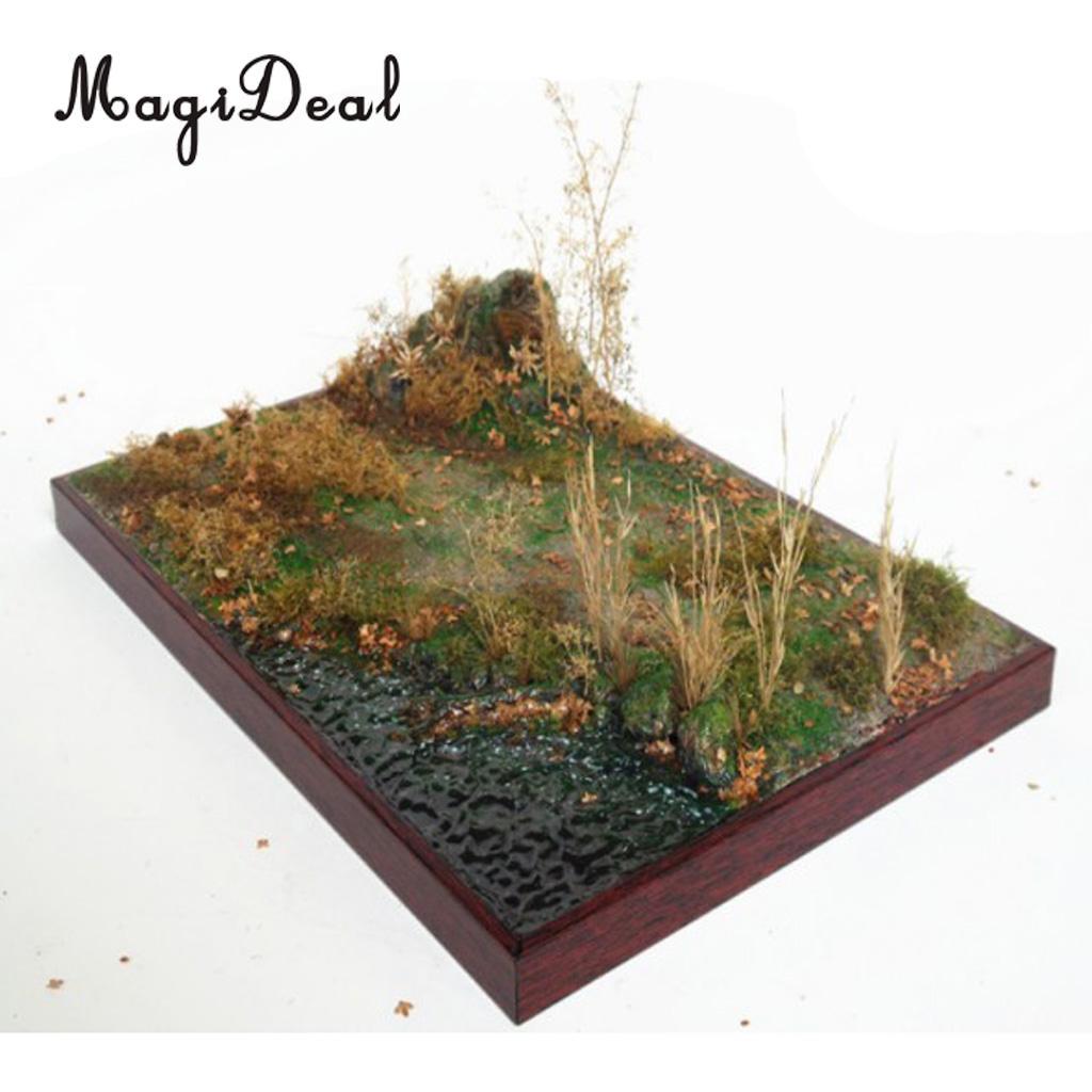 Escala 135 Base de arena de madera pradera construir y pintado para Diorama paisaje accesorios modelo Kits puntal de edificio diseño de arquitectura