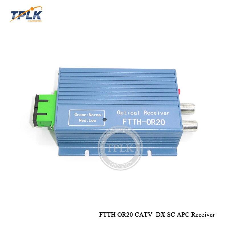 Envío Gratis FTTH OR20 CATV DX SC APC receptor AGC dúplex FTTH receptor de fibra óptica con WDM construido por ONU por internet.
