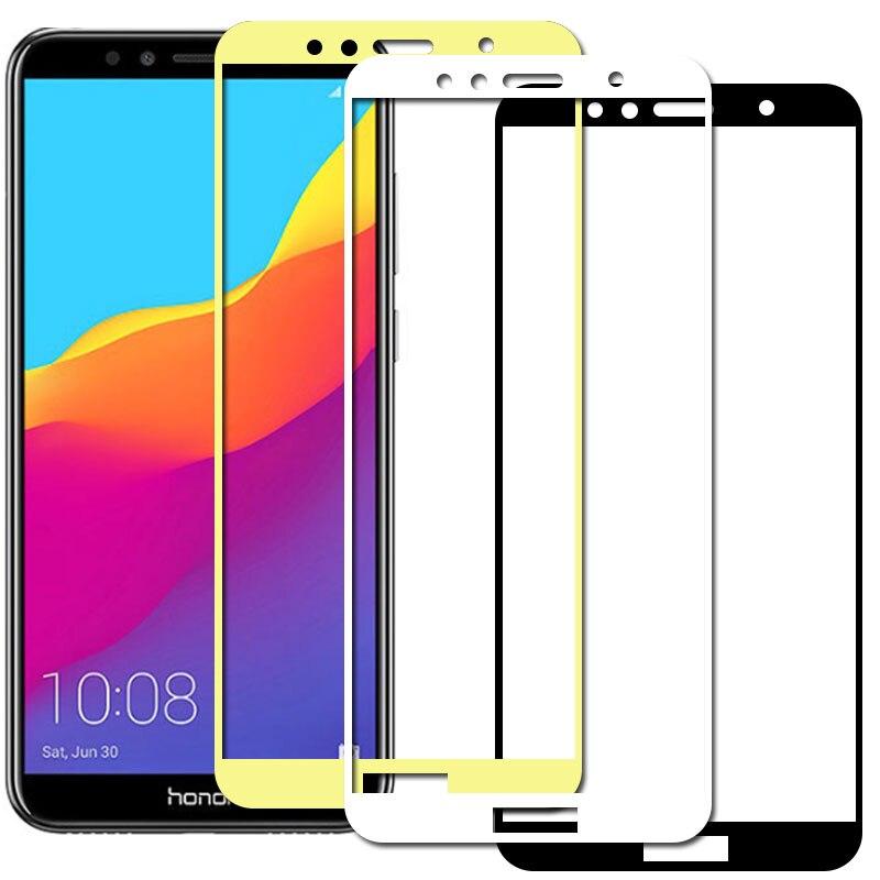 Volle Abdeckung Gehärtetem Glas für Huawei Honor 7a Schutz Film auf Huwei Hyawei Huawey honer hono 7x a7 pro 7a 7c pro Sicherheit Glas
