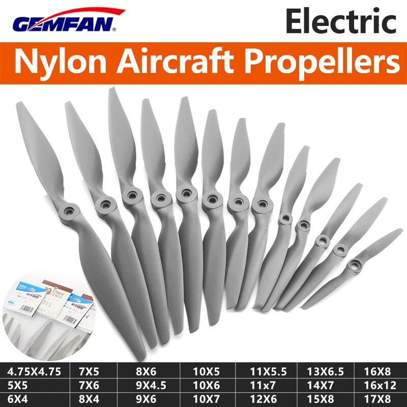 4 pçs/lote Gemfan Apc Hélice de Nylon 4.75X4.75/5X5/6X4/6X5.5/7X5/7X6 Adereços Para RC Modelo de Avião