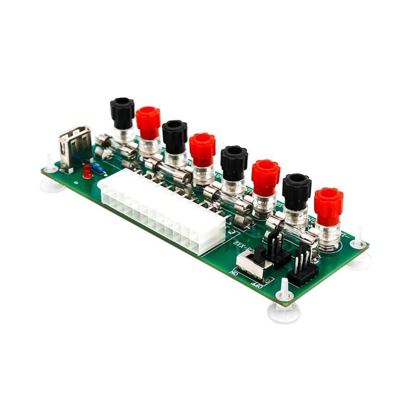 ATX 24Pin 20 или 24Pin настольная плата компьютера ПК блок питания Breakout модуль адаптер USB 5V порт с переключателем ПК Аксессуары