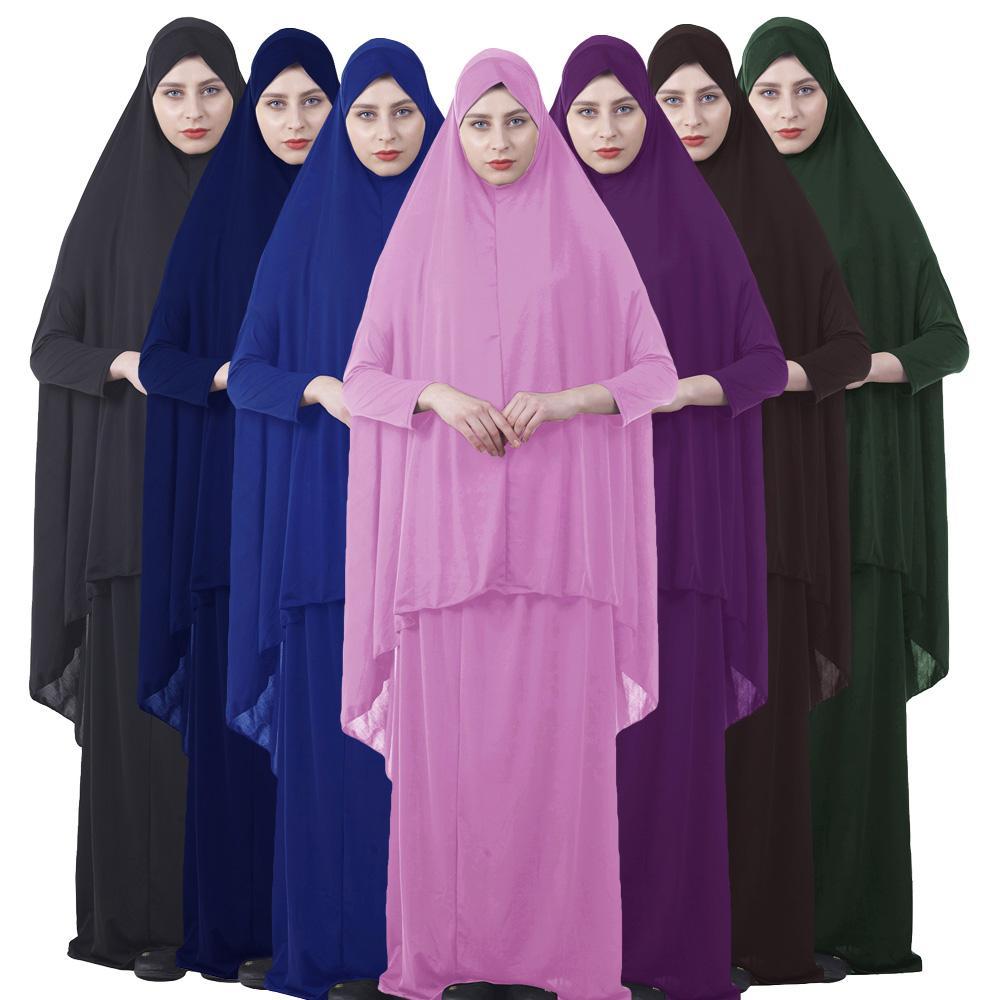 Conjuntos formales de ropa de oración musulmana vestido Hijab Abaya Afghanistan ropa islámica Namaz oración larga Hijab mosquito Jurken Abayas