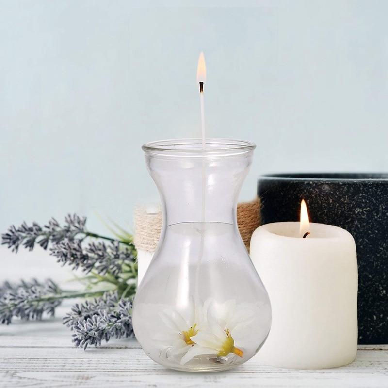 Mecha de vela pre-cera mecha 8/6/4 pulgadas cada cincuenta velas hechas a mano suministros vela centrado dispositivo DIY fabricación de velas mecha sin humo