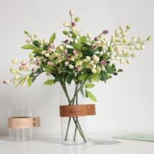 Faux Olive fruits haricot branche fleurs pour noël plante artificielle baies fleurs pour mariage maison chambre décor fleur plante mur