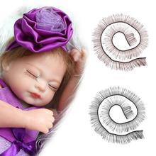 Livraison directe 20cm Bjd/sd faux cils poupée cils bande pour poupées cils accessoires couleur noir/marron