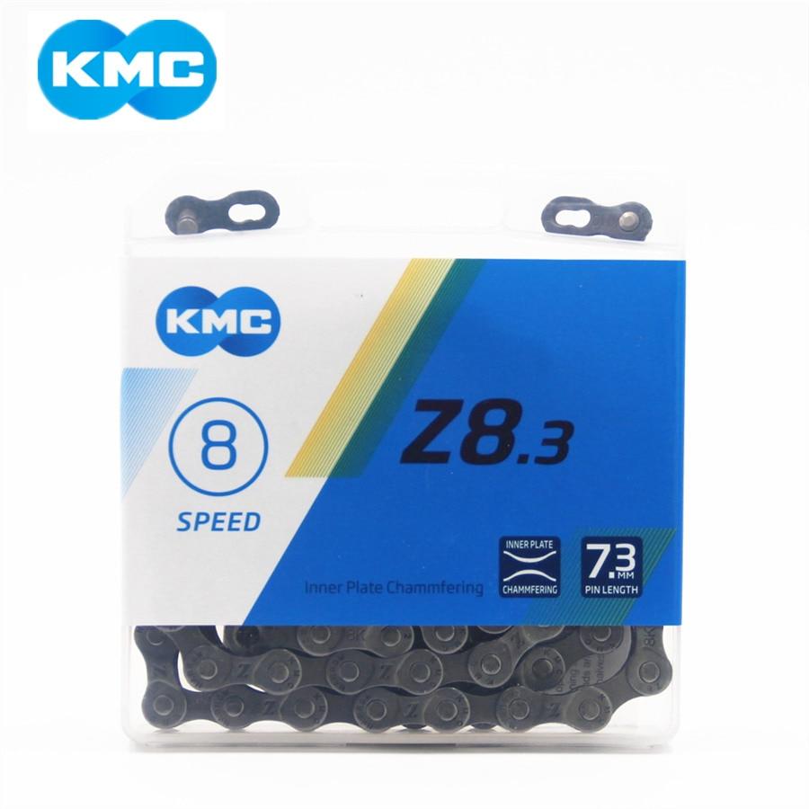 Cadena KMC Z8.3, cadena de bicicleta de montaña de 8 velocidades, cadena de bicicleta de carretera Original Z8 MTB, cadenas 116L