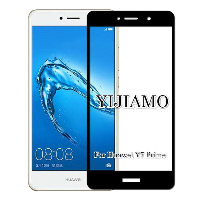 Full Cover 3D Tempered Protective Glass For Huawei Y7 Prime Screen Protector 9H Explosion-proof Film