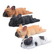 Linda Calcomanía para refrigerador ornamento 3D Bulldog durmiendo dibujos animados Animal nevera con forma de perro Calcomanía para refrigerador decoración magnética