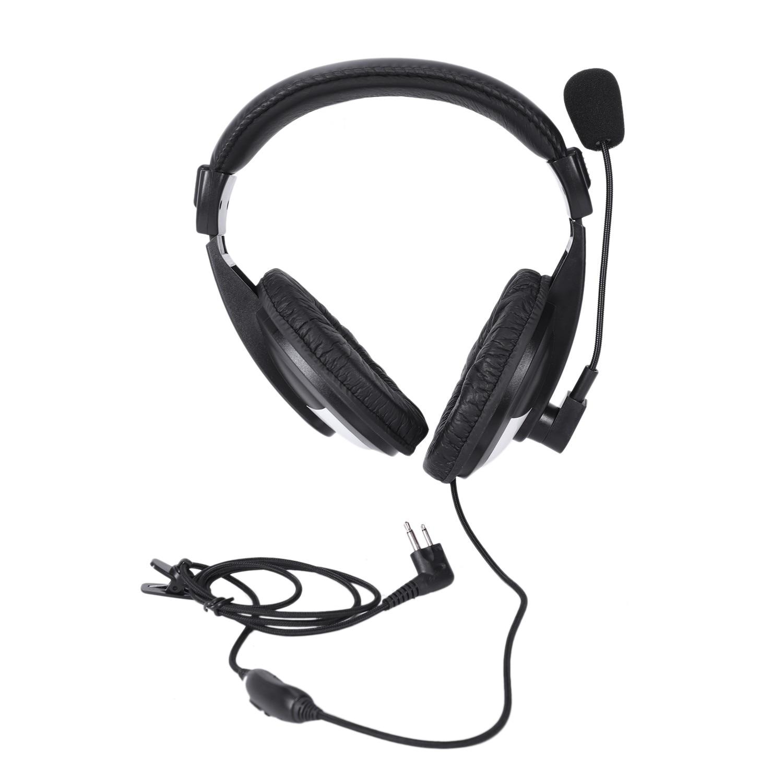 Micrófono de brazo para auriculares de dos auriculares de alta resistencia para Baofeng/Hyt/Tyt/Wouxun Md380 F8Hp
