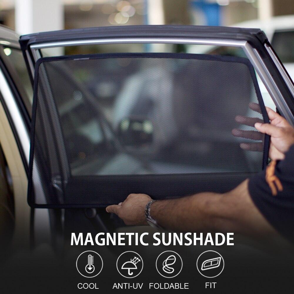 3 uds magnético parasol de ventana para coche ciego de malla puerta lateral para SKODA Fabia