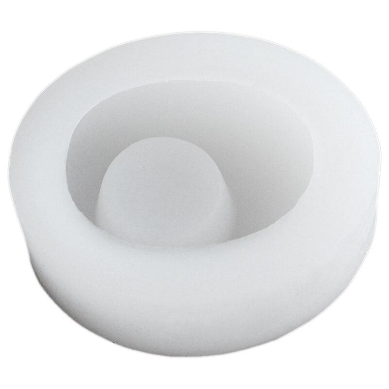 Candelabro empedrado molde de silicona hormigón molde de macetero cemento hecho a mano candelabro decoración de escritorio