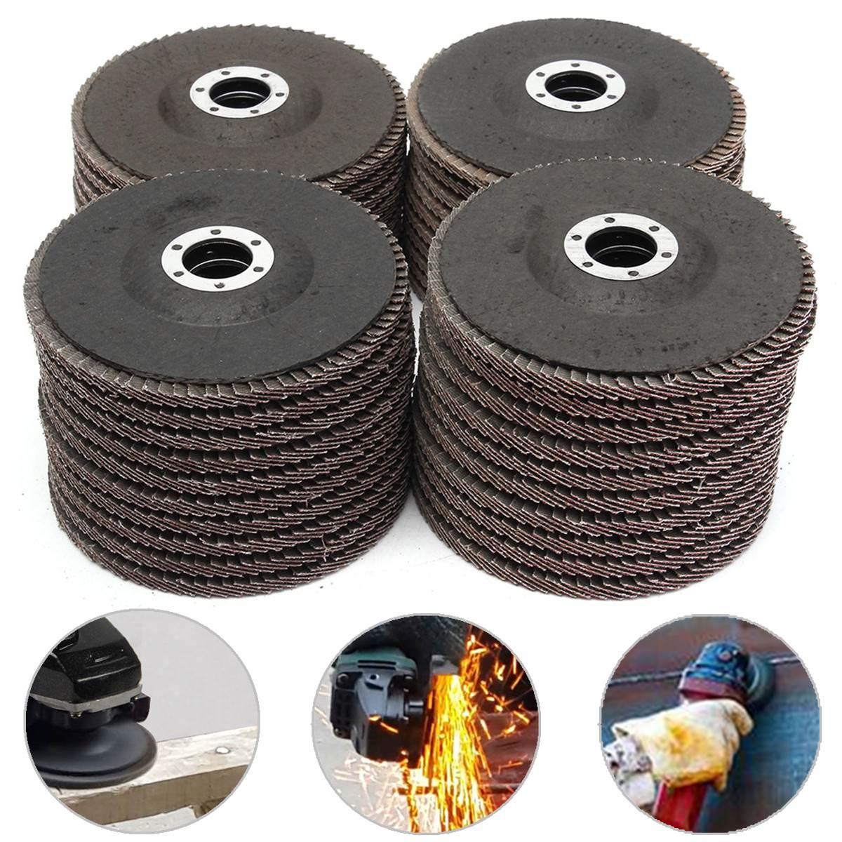 "10PCS/set 5"" 125mm Grit Aluminum Oxide Flap Disc 40/60/80/120 Sanding Grinding Wheels Applicable to General Metal Carbon Steel"