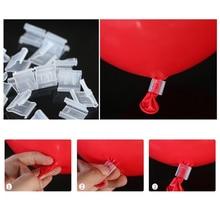 100 Pcs V H Shape Useful Ballon Buttons Clips Festive Party Supplies Wedding Birthday Christmas Balloons Sealing Clip