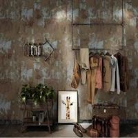 new nostalgic vintage metal papel de parede clothing store barber bar cement industrial style coffee shop restaurant wallpaper