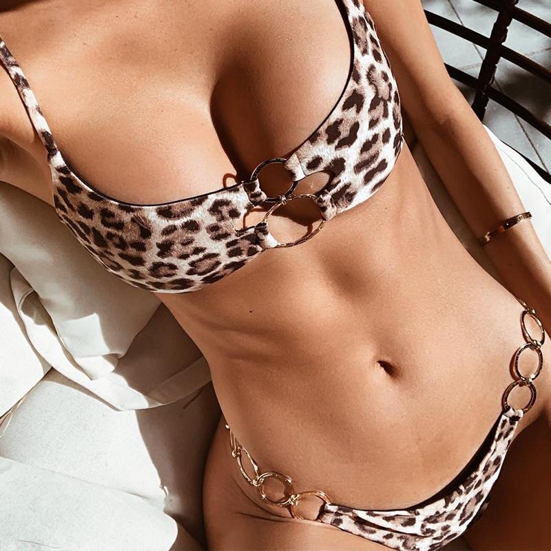 Misswim Ring sexy bikini 2019 Black woman swimsuit female bikini set Hollow out swimwear women bathing suit Two-piece suit new