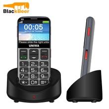 UNIWA V808G 2.31 pouces téléphone portable 3G WCAMA téléphone portable pour vieil homme SOS 1400mAh russe clavier 2G téléphone portable pour personnes âgées