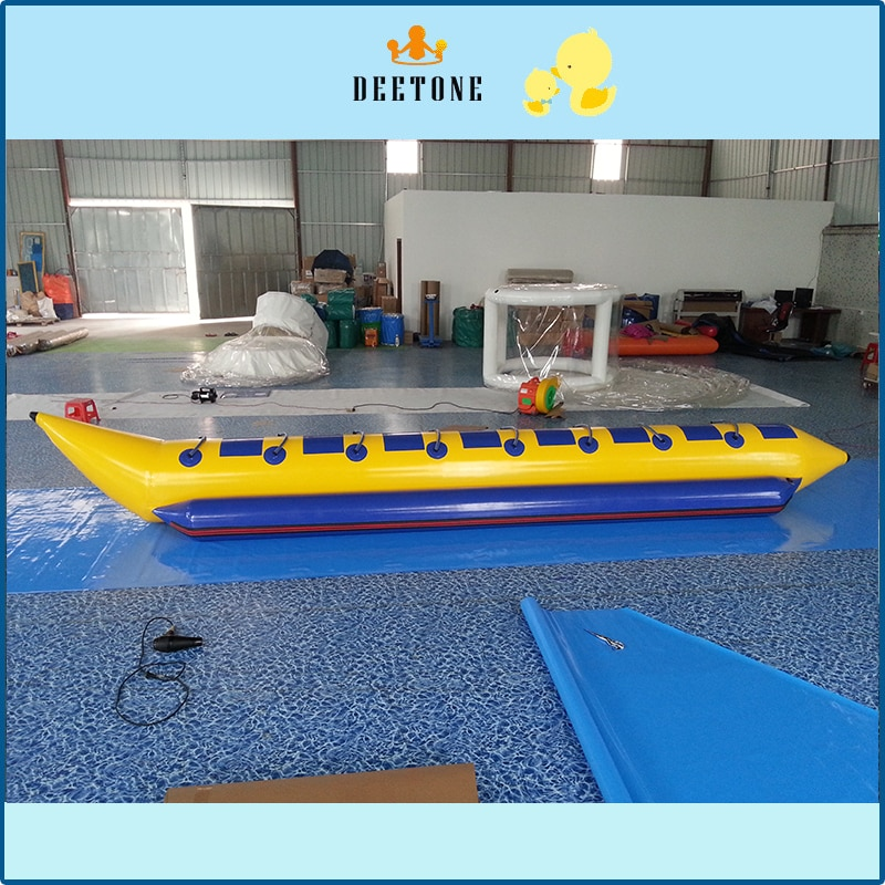 8 persons flying banana boat with free air pump,ocean rider inflatable banana boat for sale