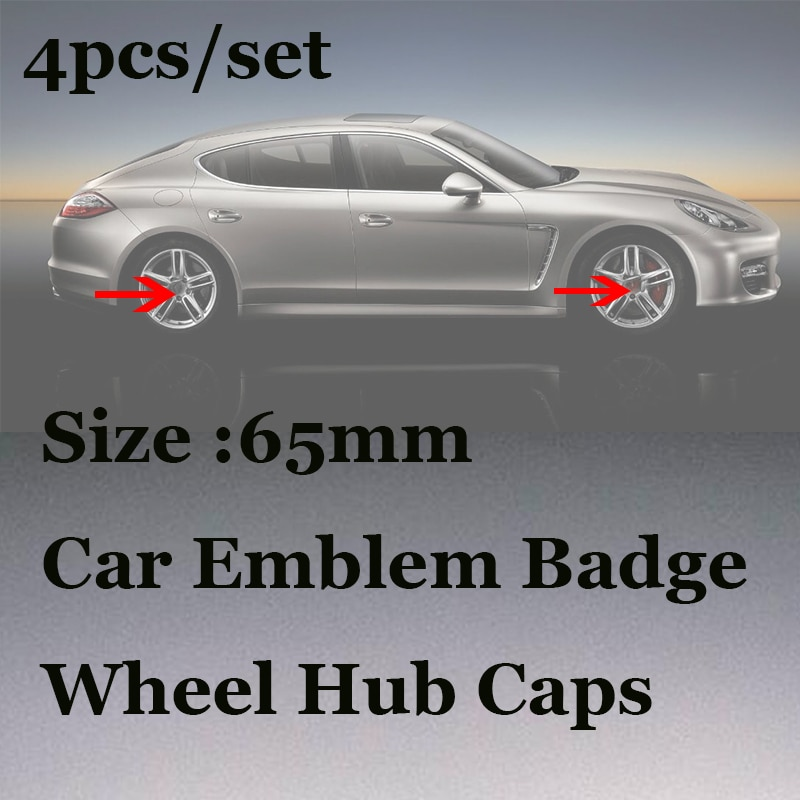 4pcs/set For 911 Boxster Cayman Cayenne Panamera Macan Auto Wheel Tires Center Caps 65mm Covers Car Emblem Logo badge Label