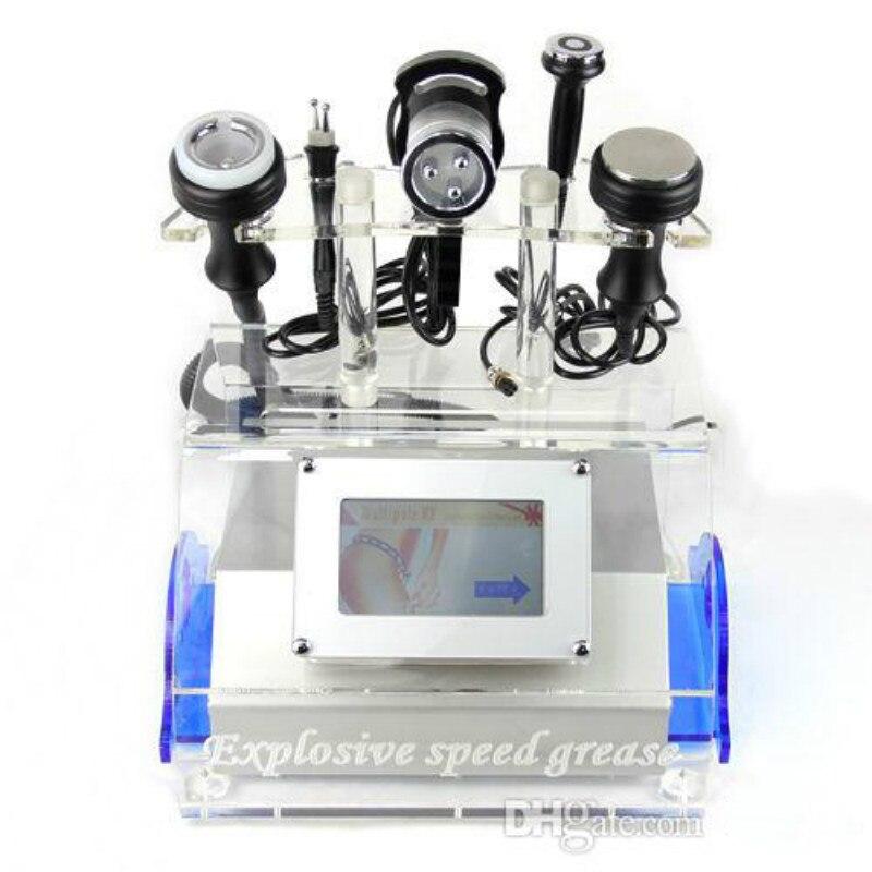 Portátil de 5 en 1 eficaz cuerpo adelgazar máquina de cavitación con ultrasonido 40k cavitación