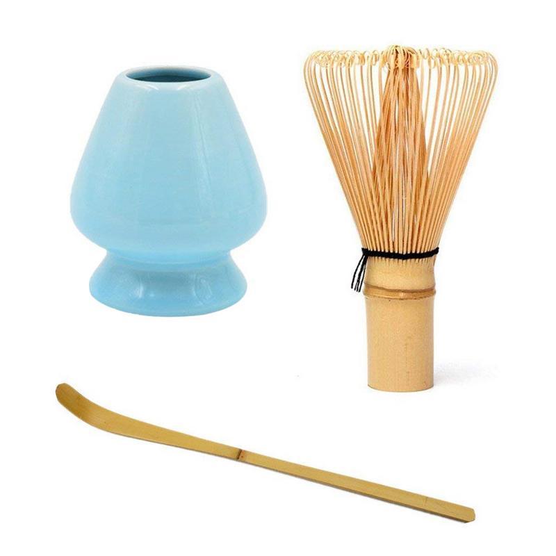 Conjunto de batidores de té Matcha delicado + cuchara + soporte batidor profundo bambú chino té ceremonia té pedido conjunto Accesorios