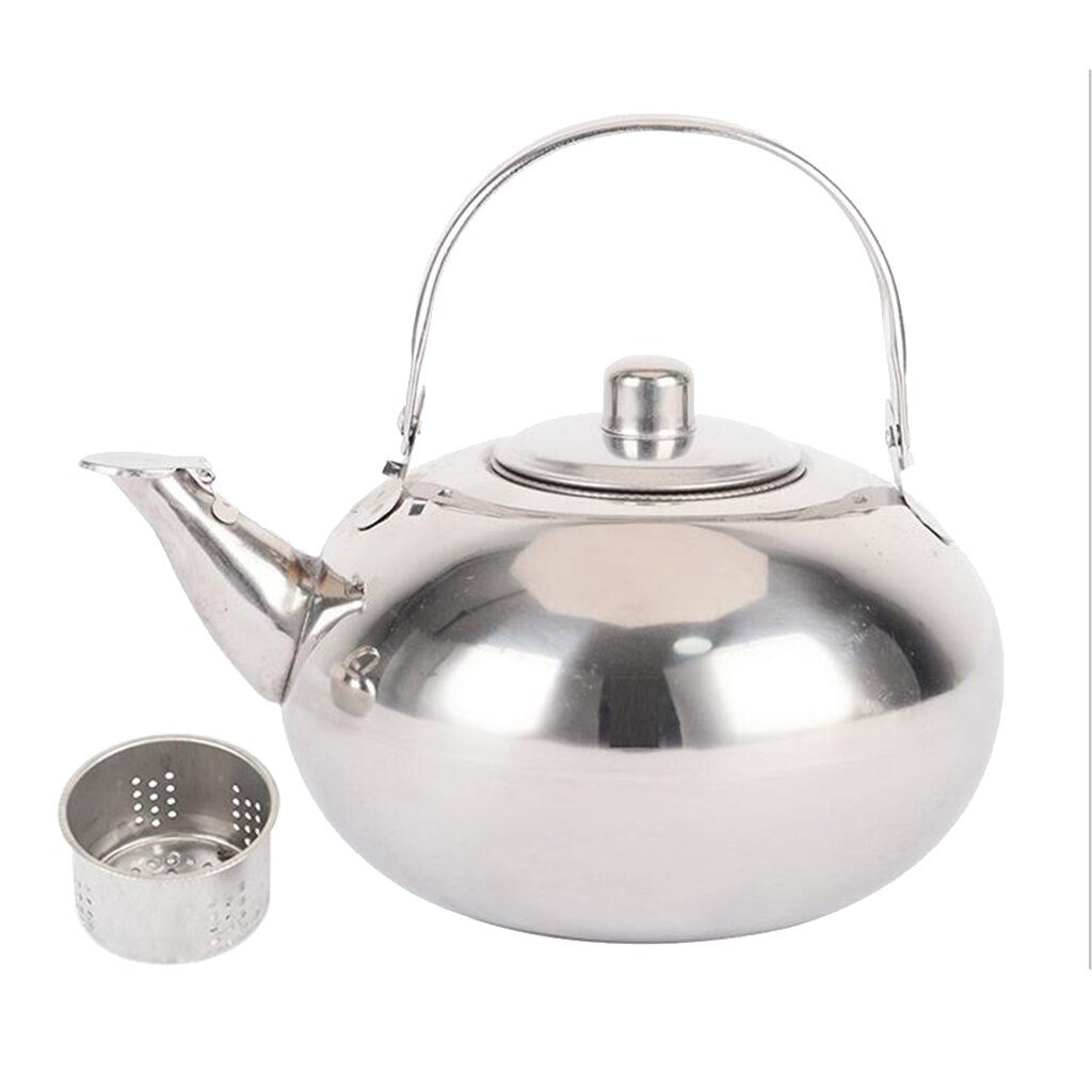 De acero inoxidable teteras hervidor de agua caliente olla de té suelto de infusor te tetera de Metal extraíble con colador de té
