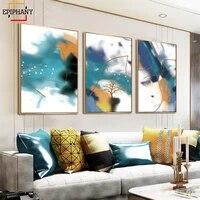 Affiche en toile abstraite daquarelle  decor de maison moderne  peinture dart mural de mode  image murale de Style nordique pour salon