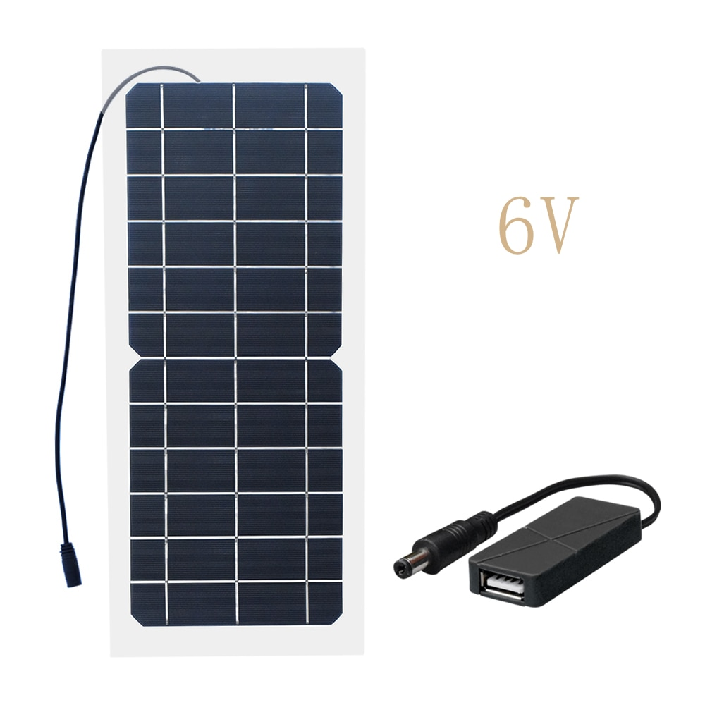 Xinpuguang 10W 18 V/12 V/6 V Panel Solar Semi-Flexible Cable células monocristalinas bricolaje módulo conector USB cargador DIY Kit al aire libre
