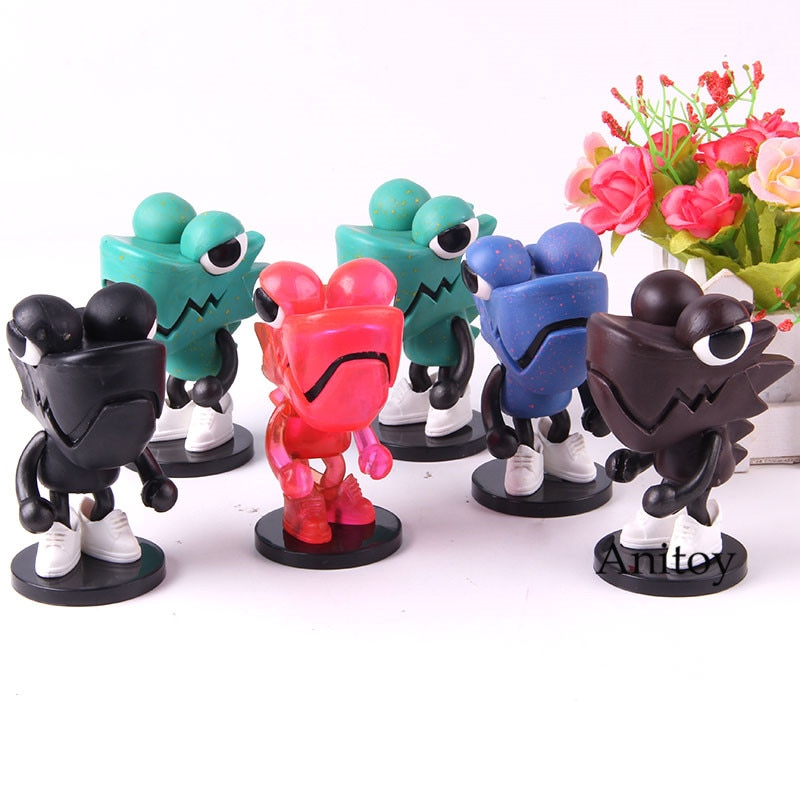 Chameleon Series Wazzup Family LDH Toys Chameleon Figure Q Version Action Figure PVC Collection Model Toy 6pcs/set