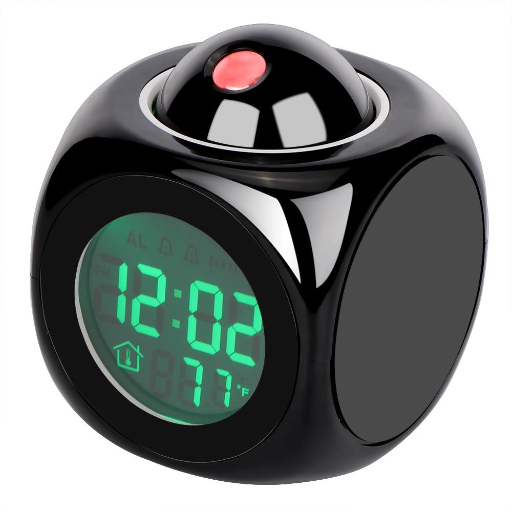 Reloj de proyección LCD, escritorio electrónico Nixie, reloj Digital sin proyector de Radio, reloj con alarma con proyección de tiempo