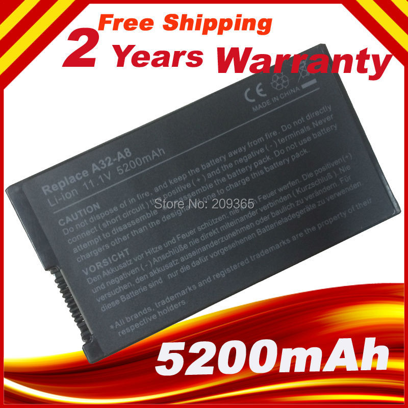HSW 6 خلية البطارية ل ASUS X80H X80L X80N X80Z X81 X81Sc X81Se X81Sg Z99 Z99Fm Z99H Z99J A32-A8 A8TL751 L3TP.B991205 SN31NP025