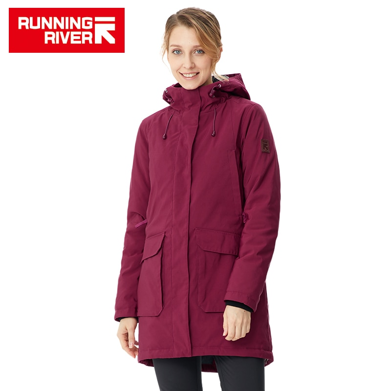 RUNNING RIVER Brand Women Winter Hiking & Camping  High Quality Warm Jackets For Woman Winter Outdoor Clothing #R8550