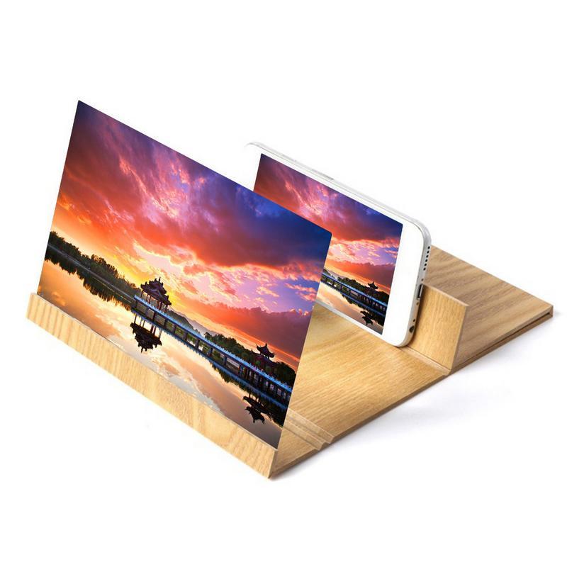 Pantalla de teléfono móvil de 12 pulgadas, amplificador de vídeo HD con lupa para teléfono inteligente, pantalla 3D, soporte multifunción para teléfono inteligente