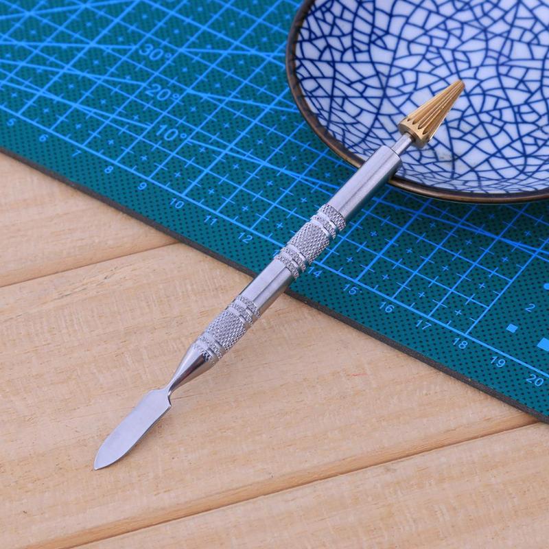 Dual Kopf Leder Rand Öl Farbstoff Stift Applikator Schnelle Farbroller Werkzeug Leder Handwerk Gelten Öl Schnell Doppel Seite Applikator