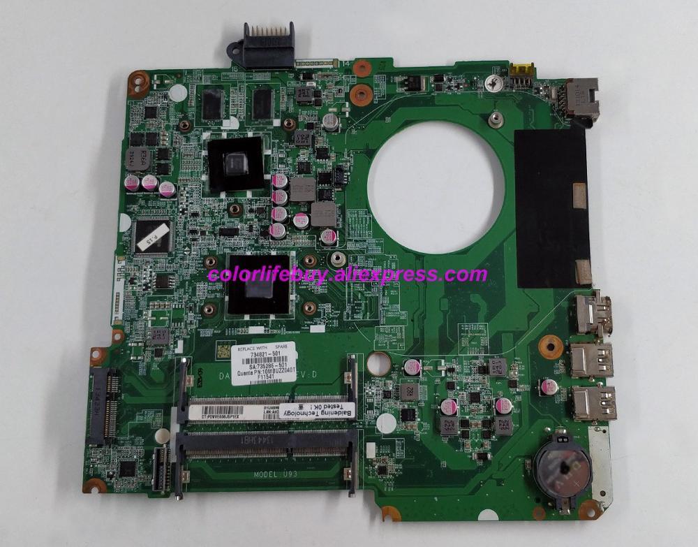 Placa base para ordenador portátil HP 15-N, Serie de ordenador portátil 734821-001 734821-501 734821-601 w HD8670M/1G A6-5200 DA0U93MB6D0
