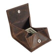 กระเป๋าสตางค์หนังแท้Haspเหรียญขนาดเล็กกระเป๋าสตางค์B580-50หนังม้าบ้าหนังบุรุษหนังเหรียญกระเป๋...