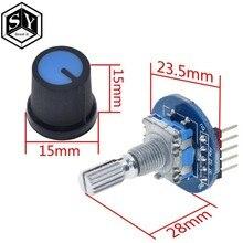 GROßE ES Rotary Encoder Modul für Arduino Brick Sensor Entwicklung Runde Audio Rotierenden Potentiometer Knopf Kappe EC11