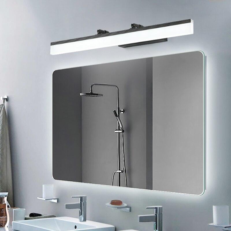 DAR Adjustable Design 16w 13w 9w 7w Led Bathroom Mirror Lamp Ac 90-260v White/Black Aluminum Acrylic Modern Wall Light Fixtures