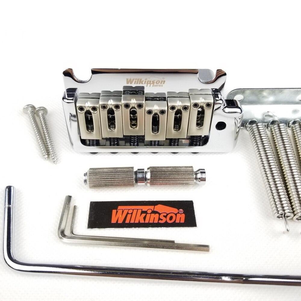 Wilkinson 2 post point chrome prata duplo balanço guitarra elétrica tremolo sistema ponte para at e suhr guitarra wov08