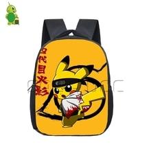 Anime Naruto Dragon Ball Pokemon Crossovers sac à dos enfants sacs décole enfants Chibi Piakchu Naruto/goku maternelle sac à dos