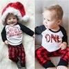 3PCS Pasgeboren Kids Baby Boy Kerst Kleding Set Tops Romper Broek Leggings Hoed Outfits Kleding Set