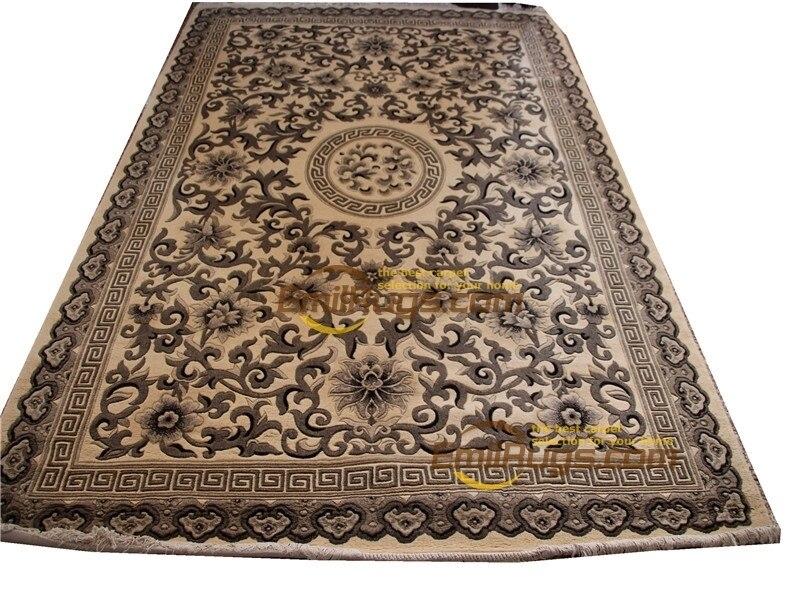 Azulejos de alfombra modernos hechos a mano alfombra turca marrón alfombra Circular de moda hogar alfombra decorativa lana Natural de oveja
