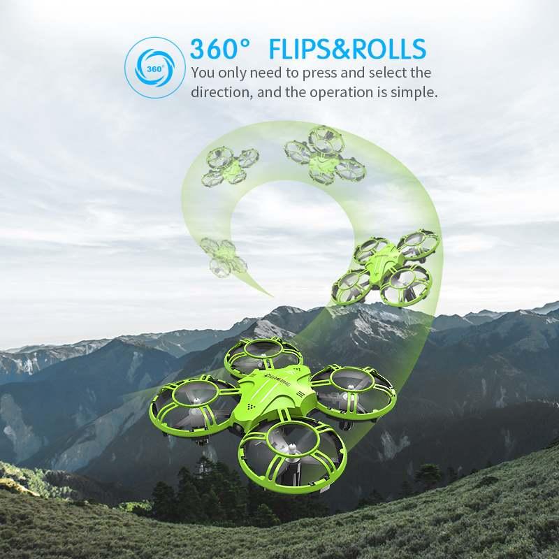 Everyine-E016H Mini Quadcopter ، صيانة الارتفاع ، مقطوعة الرأس ، وقت طيران 8 دقائق ، 2.4G RC RTF RC ، لعبة هدية صغيرة للأطفال
