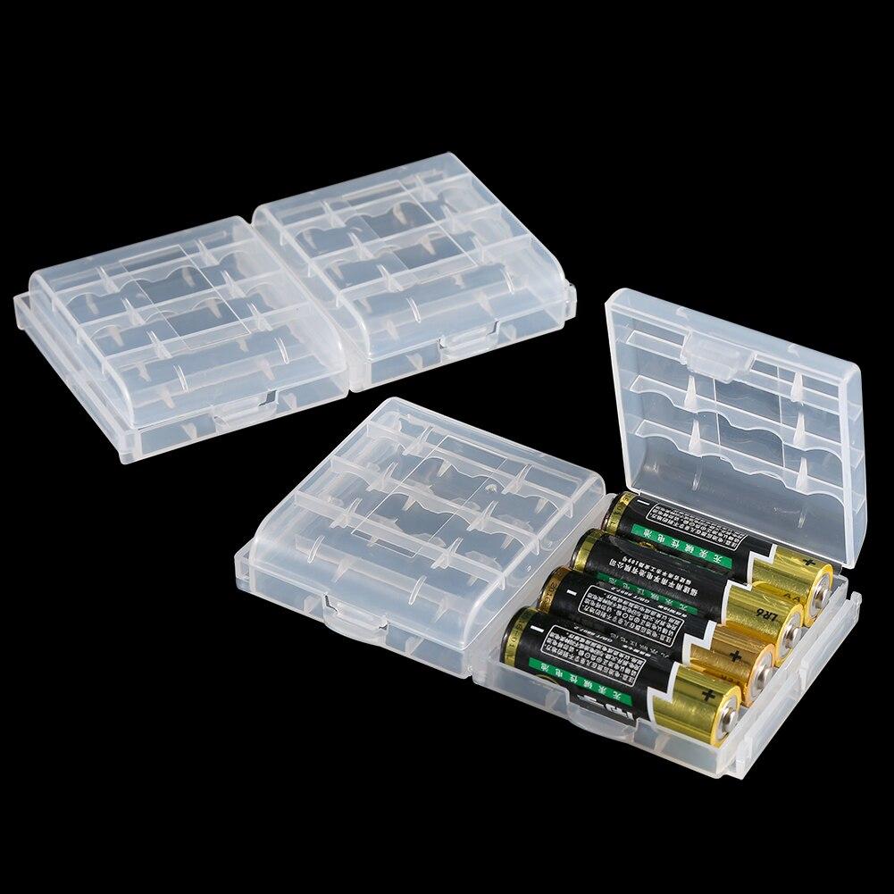 Novedad SOONHUA, 10 Uds., caja de plástico duro para batería, caja de almacenamiento multifuncional, cajas transparentes, accesorios de batería