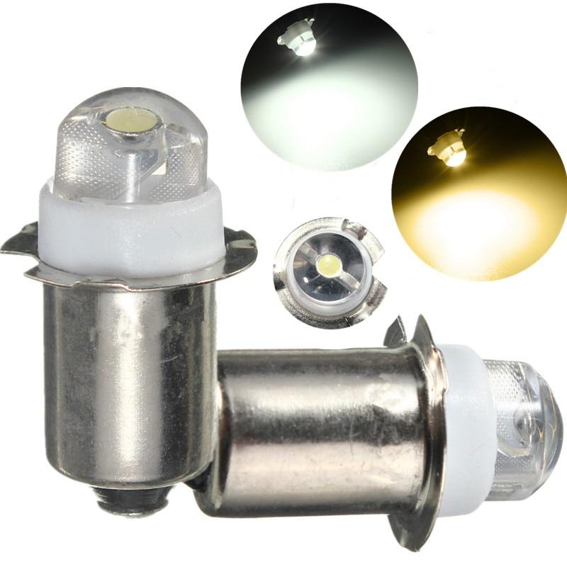 P13. 5S PR2 0,5 W LED linterna reemplazo bombilla Durable 30Lumen alto brillo emergencia trabajo luz pura cálida blanco DC3-18V