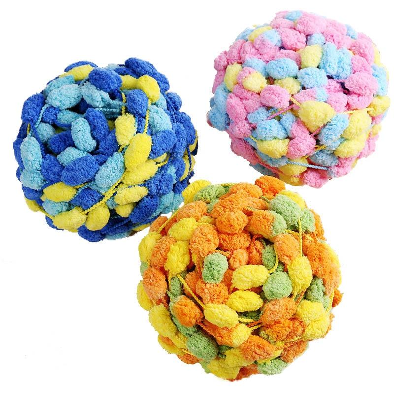 3 bolas/lote 400g de lana gruesa gran arco iris hilo de pompón suave bebé Cachemira hilo ganchillo tejido a mano hilo para DIY cojín QW072