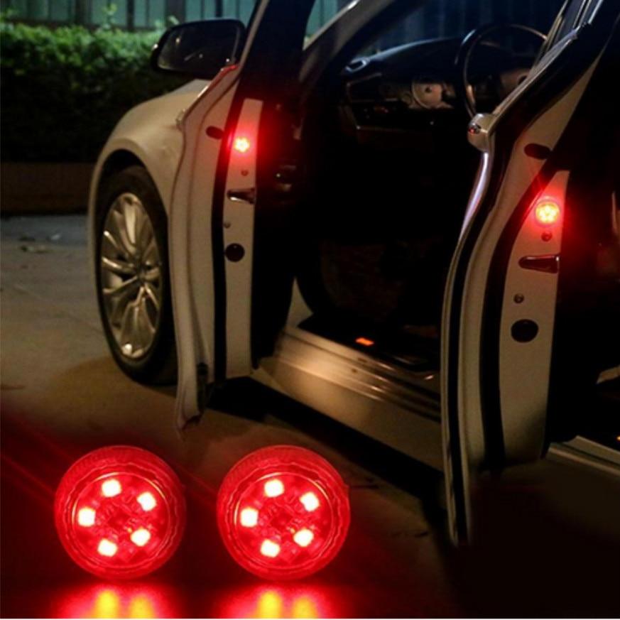 2x Car Door Wireless Warning Strobe Light sticker For Audi Quattro A4 A5 A6 A7 A8 TT S4 S3 S5 S6 S7 S8 TT Q3 Q5 7 A1 B5 B6 B7 B8