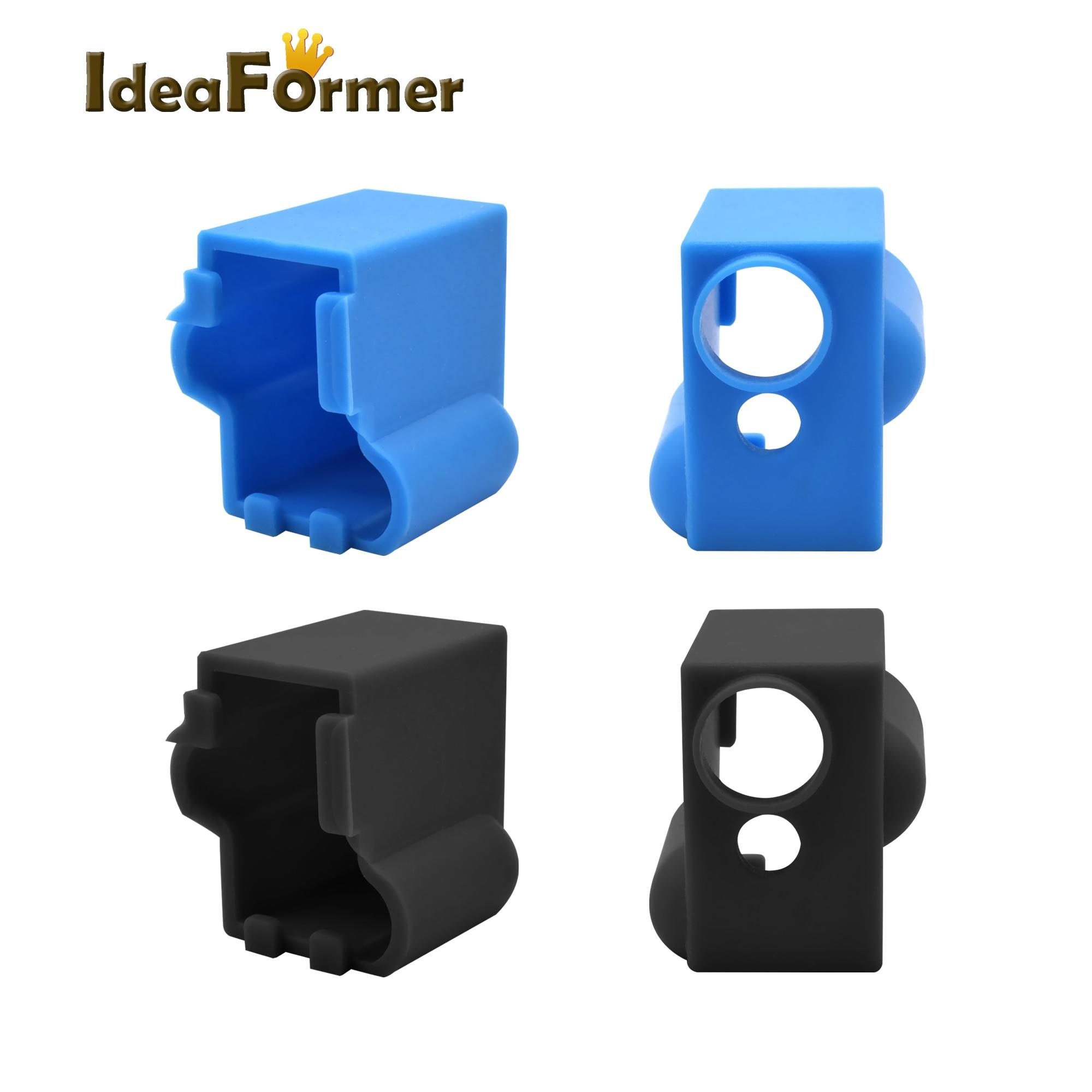 Meias Peças de Impressora 3D Vulcão Vulcão 1 pc Silicone Bloco Aquecido V6 J-cabeça Hotend Bowden/Direto Da Extrusora tampa do Bloco de Reprap