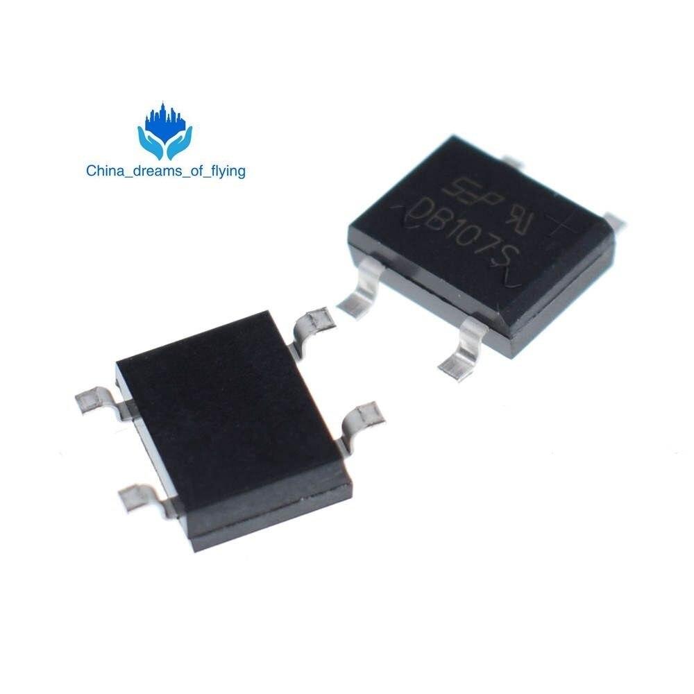 PCS SMD DB107 10 DB107S 1A 1000 V Fases Único Diodo Ponte Retificadora