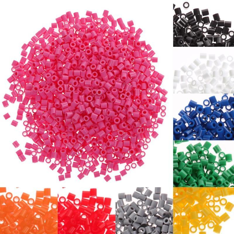 Эва для Хама, 1000 шт., 5 мм, игрушка из бисера, перлер, для детей, рукоделие, ручная работа, плавкий шарик, многоцветная, для раннего развития, обучающие игрушки для детей