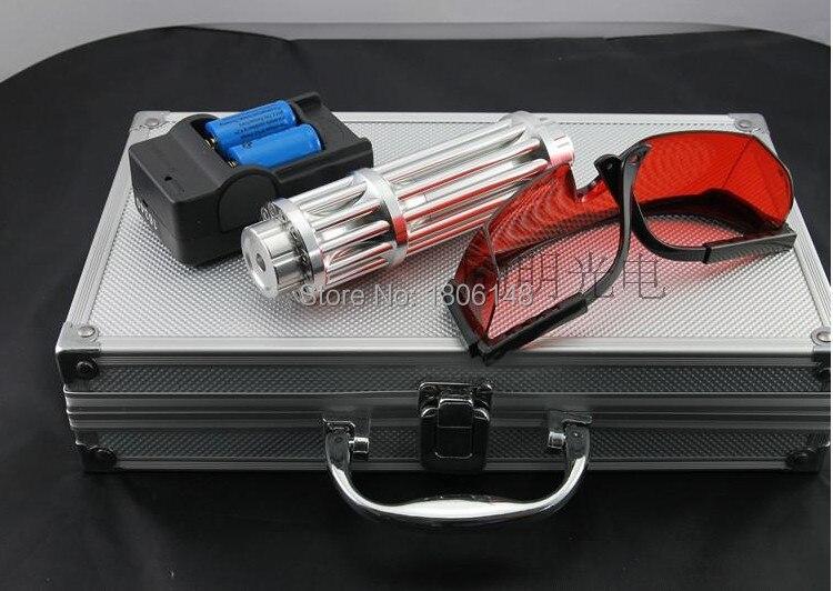 High Power Military Blue laser pointers 500000m 500w 450nm Flashlight Light Burning Match/dry wood/black/Burn cigarettes Hunting